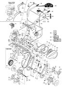 Трос газа культиватора Pubert ECO 45RC2,50TC2,50BC2,55HC2,50HC2,40HC2 (рис.63)