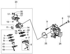 Карбюратор триммера Oleo-Mac BC 260 4S (рис. 23) - фото 36154