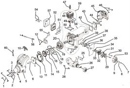 Двигатель в сборе триммера Ryobi RLT30 CD (рис. 59) - фото 36472