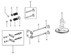 Клапана культиватора Efco MZ 2050 R - MZ 2050 RX (рис. 5) - фото 37192