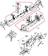 Левая втулка колеса культиватора Champion GC 243 (рис. 43) - фото 37560