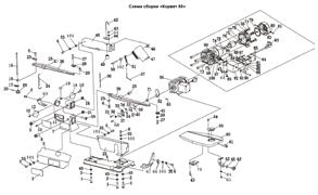 Блок натяжения (А) лобзика Энкор Корвет-88 (рис.17) - фото 42053