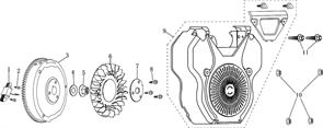 фланцевый болт М6Х30 \ BOLT, FLANGE, M6?30 бензогенератора Elitech БЭС 12000 Е (рис.2) - фото 43944