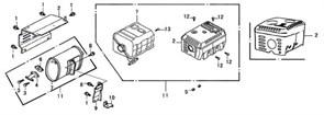 фланцевый болт М6?12 бензогенератора Elitech БЭС 1800 (рис.1) - фото 44031