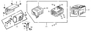кронштейн глушителя бензогенератора Elitech БЭС 1800 (рис.10) - фото 44040