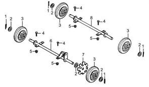 колесо бензогенератора Elitech БЭС 1800 (рис.9) - фото 44116