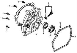 прокладка крышки картера бензогенератора Elitech БЭС 1800 (рис.8) - фото 44124