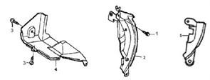 фланцевый болт М6?8 бензогенератора Elitech БЭС 1800 (рис.3) - фото 44288