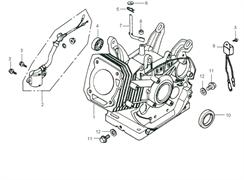 сальник бензогенератора Elitech БЭС 2500 Р (рис.10) - фото 44615