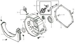 Щуп масляный с прокладкой в комплекте бензогенератора Elitech БЭС 2500 Р (рис.3) - фото 44660