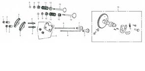 стопорная гайка втулки карамысла бензогенератора Elitech БЭС 2500 Р (рис.1) - фото 44671