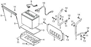 штифт крепления АКБ 0101.140600 бензогенератора Elitech БЭС 5000 РС  (рис.5) - фото 45062