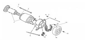 Крышка крепления ротора 0101.142600 бензогенератора Elitech БЭС 5000 РС  (рис.4) - фото 45074