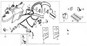 Жгут проводов в сборе бензогенератора Elitech БЭС 6500   (рис.8) - фото 45148