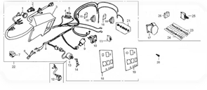 Розетка БЭС 8000/8000ЕТ бензогенератора Elitech БЭС 8000 / БЭС 8000 ЕТ   (рис.16) - фото 45216