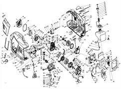 Накладка под розетку переменного тока 23141-B001-0000 генератора инверторного типа Elitech БИГ 1000  (рис.56) - фото 45402