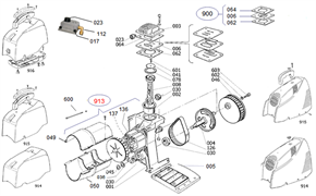 Винт M5х16 торцевой безмасляного коаксильного компрессора ElitechOM 195/24 (рис.601) - фото 45798