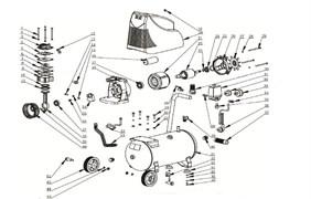 Кожух защитный эл/дв пластиковый КПБ190 безмасляного коаксильного компрессора ElitechКПБ 190 (рис.20) - фото 45826