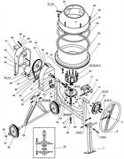 Ремень клиновой О-850 бетономешалки Elitech БС 120 (рис. 48) - фото 46464
