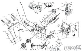 Шестерня привода колес ведомая снегоуборщика ЭНКОР МС 55-1