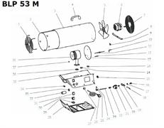 Вентилятор тепловой пушки VANGUARD BLP 53 M