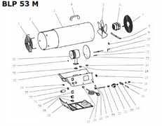 Термодатчик тепловой пушки VANGUARD BLP 53 M