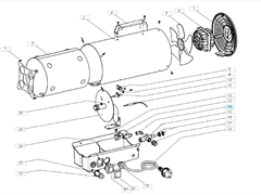 Пьезоэлемент газовой тепловой пушки VANGUARD VG 10 M