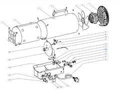 Крыльчатка газовой тепловой пушки VANGUARD VG 30 M