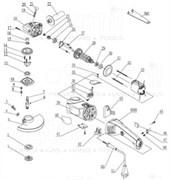 Стопорное кольцо болгарки Sturm! AG9018E (рис. 19)