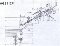 Кожух подшипника болгарки Sturm! AG9112P (рис. 34)