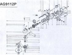 Корпус редуктора болгарки Sturm! AG9112P (рис. 55)