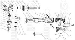 Корпус редуктора болгарки Sturm! AG95151P (рис. 16)