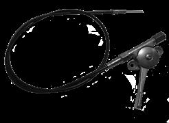 Механизм управления дроссельной заслонкой  (трос газа с рычагом) виброплиты MASTERPAC PC3820