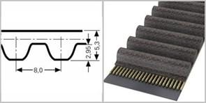 Зубчатый усиленный приводной ремень с арамидным кордом  SТD 864 S8М СХА