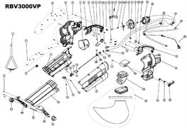 Нож воздуходувки RYOBI RBV3000VP (рис.20)