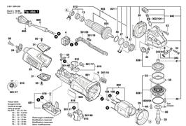 Подсбор cтaтора230V болгарки Bosch GWS 19-150 CI (рис.802)