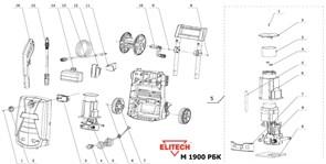 Шланг высокого давления минимойки Elitech М1900РБК
