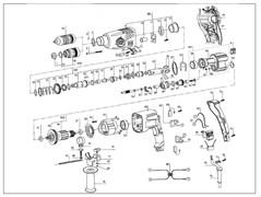 Корпус редуктора в сборе перфоратора Зубр ЗП-800-ЭК (рис.9-С)