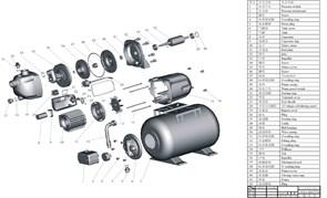 Кольцо уплотнительное D141 h4 насосной станции Grinda 8-43240-800 (рис.38)