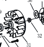Маховик триммера Patriot T 555 Pro (PT 555)