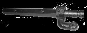 Вал крепления лопасти затирочной машины GROST ZM600