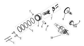 Набор поршневых колец генератора FUBAG BS 7500 №3
