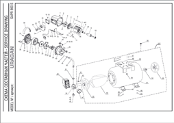 Подшипник шариковый 6202-2RS (35х15х11) насосной станции Uragan GAP-1000 (рис.11) - фото 71307