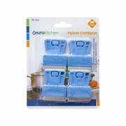Набор скребков Eurokitchen для чистки стеклокерамики, голубой