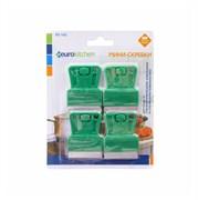 Набор скребков Eurokitchen для чистки стеклокерамики, зеленый