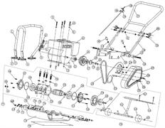 Вибратор в сборе виброплиты Sturm PC8806 (Рис.77)