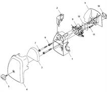 Теплоизоляция карбюратора триммера Husqvarna 122LD (рис 9)