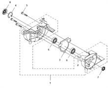 Картер двигателя триммера Husqvarna 122LD (рис 1)
