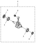 Коленвал триммера Husqvarna 122LD (рис 1) - фото 7962