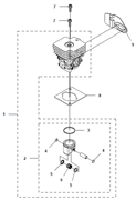 Охладитель триммера Husqvarna 122LD (рис 9)